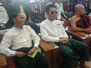 Ko Ko Gyi (88 Generation) and Lu Minn (actor) @ The Ceremony honoring fallen political prisoners